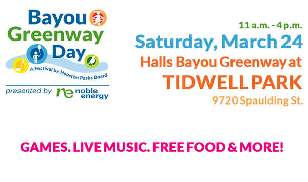 Bayou Greenway Day Is March 24!